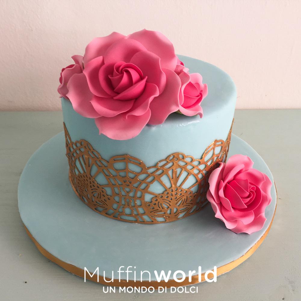 Cool torta pizzo e rosa with decorazioni per cresima - Decorazioni per cresima ...