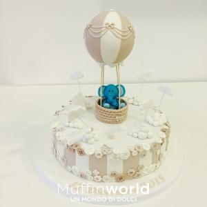 torta-cake-design-mongolfiera-battesimo-muffinworld-milano