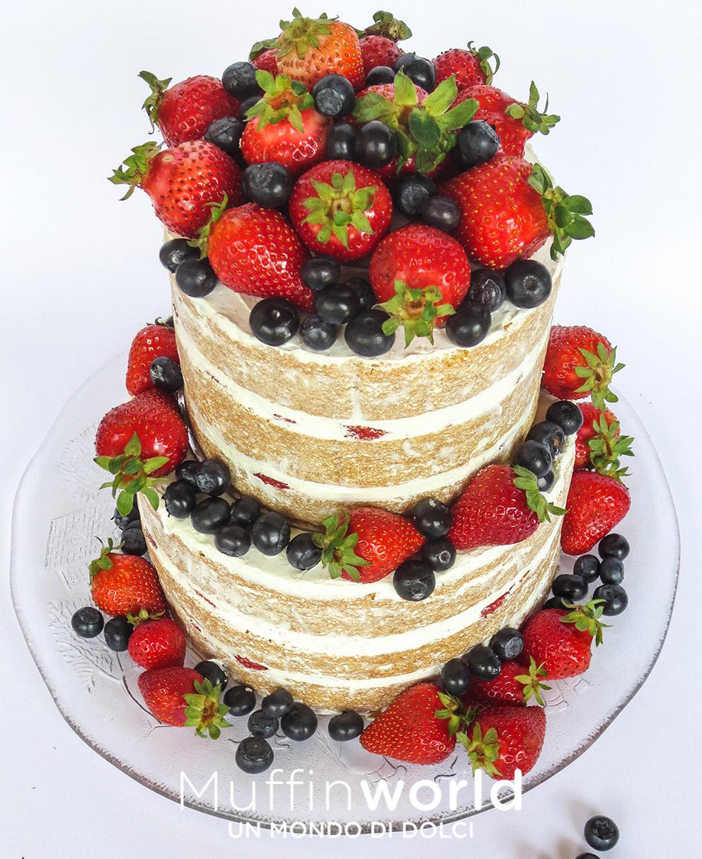 torta di matrimonio naked alla frutta wedding cake nuda alla frutta
