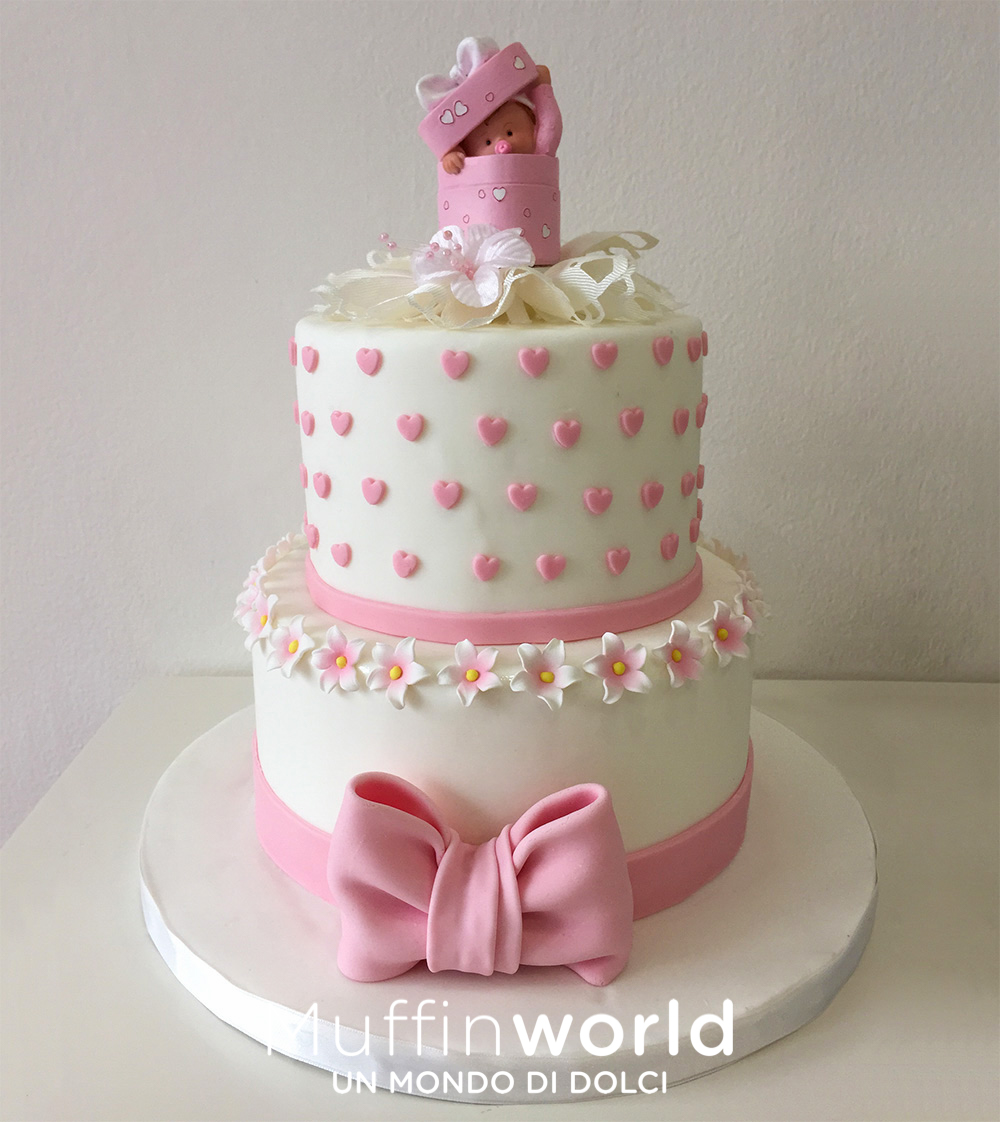 Populaire Torte di battesimo e baby shower - Muffinworld IC06